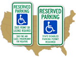 Parking Signs - Laws by U.S. State