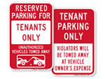 Parking Signs for Tenants
