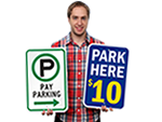 Pay Parking Signs