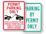Custom Permit Parking Only - Tow Company Signs