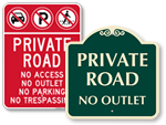 Private Road Signs