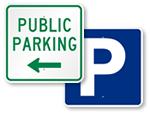 Public Parking Signs