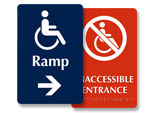 Ramp Signs for Doors and Hallways