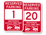 Red Parking Spot Signs