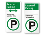 iParking Reserved for Authorized Only