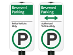 Reserved iParking Signs