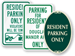 Residents Only Parking