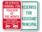School Parking Signs