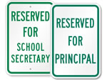 School Parking Signs by Title