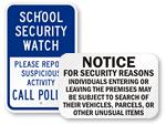 School Security Signs