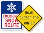 Snow Emergency Traffic Signs
