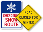 Snow Emergency Traffic Signs