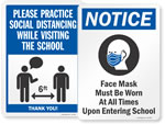 Social Distancing Signs for Schools