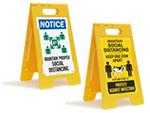 Stand-Up Floor Signs