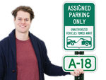 Parking Space Signs