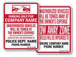 State Tow Away Signs