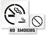 No Smoking Stencils