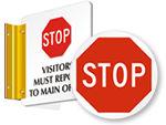 STOP Signs for Doors & Floor