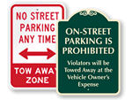 Street Parking Signs