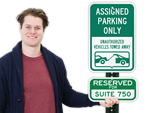 Supplemental Parking Space Signs