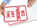 Temporary No Parking Anytime Signs