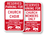 Time Limit and Tow Away Signs for Churches