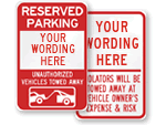 Custom Tow Away Signs