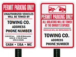 Tow Away Signs – if No Permit