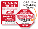 Tow Signs with Company Name