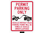 Traditional Parking Permit Signs