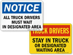 Truck Drivers Signs