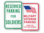 U.S. Military Parking Signs