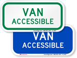 Van Accessible Parking Signs