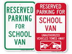 Van Parking Signs