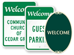 Welcome Parking Signs