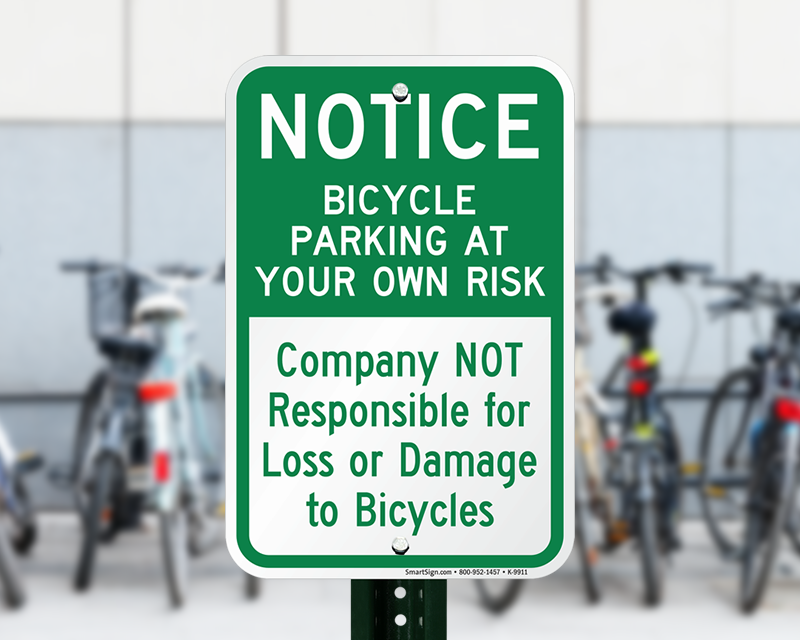 Bicycle Parking Signs Durable Aluminum Signs