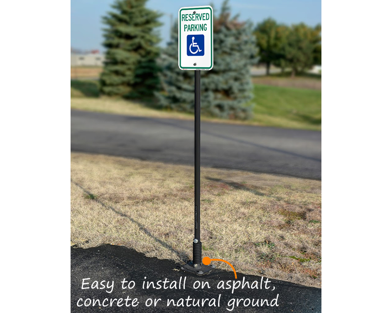 Flexpost 174 Sign Post And Base Free Shipping From