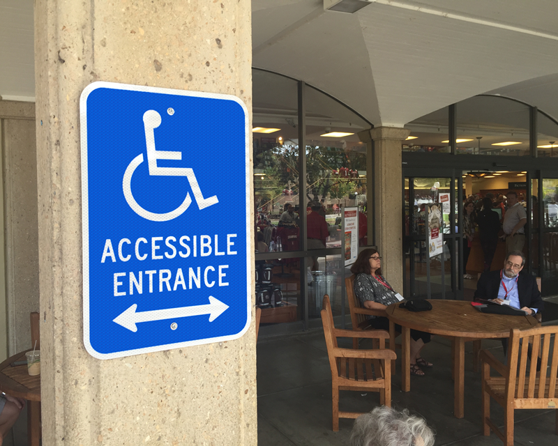 Ada accessible entrance signs accessible signs for Wheelchair accessible doorways