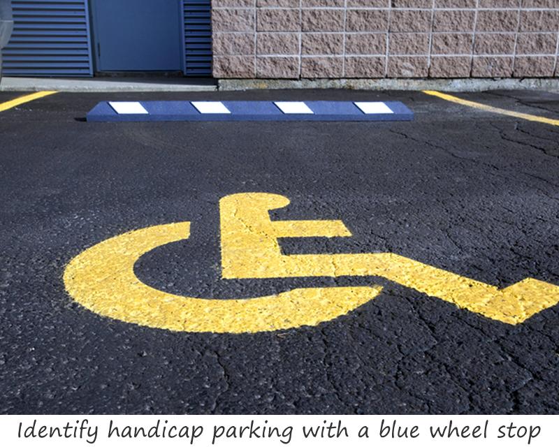 Rubber Parking Wheel Stop Flexible Handicap