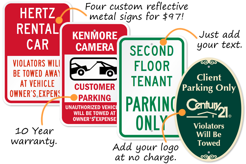 custom parking lot signs organize your parking area