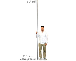 Installing 10' tall sign post