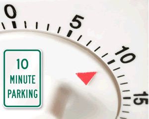 10 Minute Parking Signs