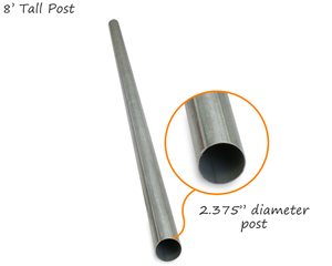 Best-Selling Round Galvanized Sign Post