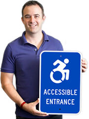 Updated Accessible Entrance Signs