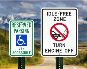 Alaska Parking Signs, Fire Lane Signs and Other Regulated Signs
