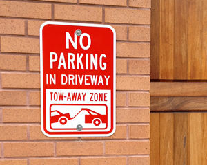 No Parking - In Driveway, Tow Away Zone Sign