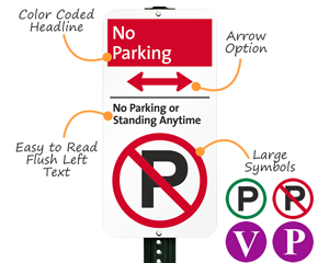 Anatomy of a modern no parking sign