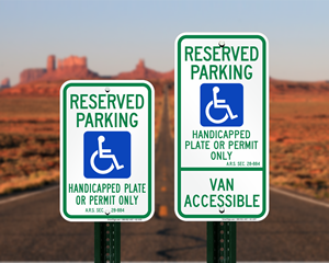 Arizona Parking Signs, Fire Lane Signs and Other Regulated Signs