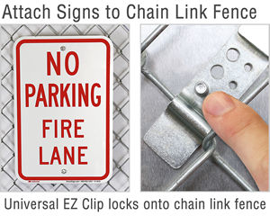 Attach sign to chain link fence