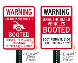 Auto boot signs
